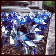 Sea of pinwheels at the court house